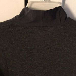 Lucy Tops - Lucy Black and deep heather gray blouse